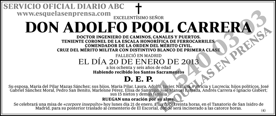 Adolfo Pool Carrera